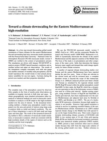 Toward a Climate Downscaling for the Eas... by Hahmann, A. N.