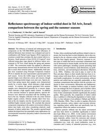 Reflectance Spectroscopy of Indoor Settl... by Chudnovsky, A. A.