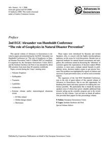 Preface 2Nd Egu Alexander Von Humboldt C... by Fabian, P.