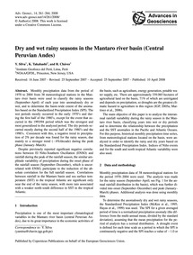 Dry and Wet Rainy Seasons in the Mantaro... by Silva, Y.