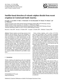 Satellite-based Detection of Volcanic Su... by Loyola, D.