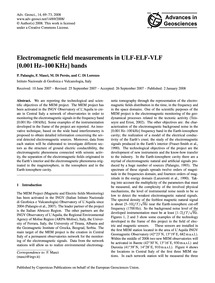 Electromagnetic Field Measurements in Ul... by Palangio, P.