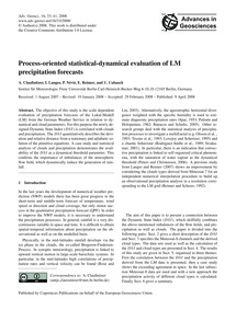 Process-oriented Statistical-dynamical E... by Claußnitzer, A.
