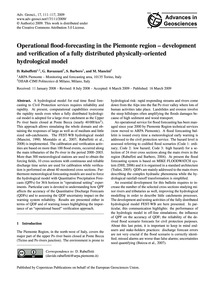 Operational Flood-forecasting in the Pie... by Rabuffetti, D.