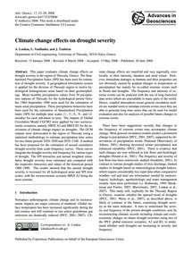 Climate Change Effects on Drought Severi... by Loukas, A.