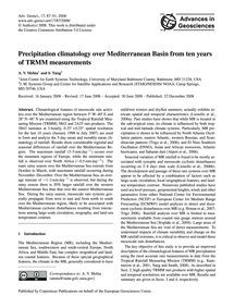 Precipitation Climatology Over Mediterra... by Mehta, A. V.