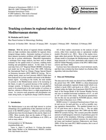 Tracking Cyclones in Regional Model Data... by Muskulus, M.