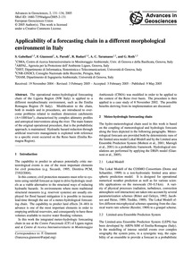 Applicability of a Forecasting Chain in ... by Gabellani, S.