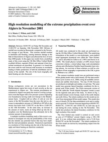 High Resolution Modelling of the Extreme... by Moore, S. A.