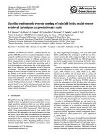 Satellite Radiometric Remote Sensing of ... by Marzano, F. S.