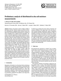 Preliminary Analysis of Distributed in S... by Brocca, L.