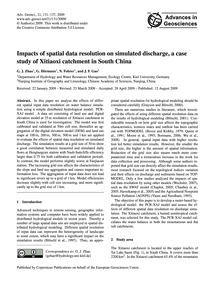 Impacts of Spatial Data Resolution on Si... by Zhao, G. J.