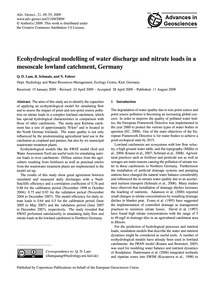 Ecohydrological Modelling of Water Disch... by Lam, Q. D.