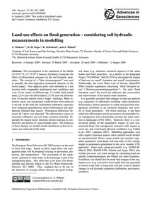 Land-use Effects on Flood Generation – C... by Wahren, A.