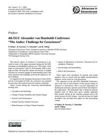 Preface 4Th Egu Alexander Von Humboldt C... by Fabian, P.