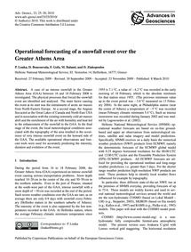 Operational Forecasting of a Snowfall Ev... by Louka, P.