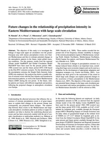 Future Changes in the Relationship of Pr... by Hatzaki, M.