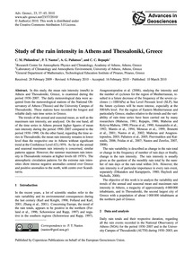 Study of the Rain Intensity in Athens an... by Philandras, C. M.