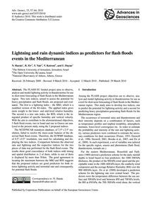 Lightning and Rain Dynamic Indices as Pr... by Harats, N.