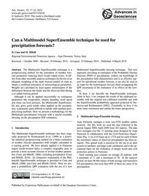 Can a Multimodel Superensemble Technique... by Cane, D.