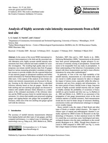 Analysis of Highly Accurate Rain Intensi... by Lanza, L. G.