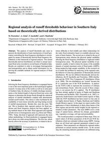 Regional Analysis of Runoff Thresholds B... by Fiorentino, M.