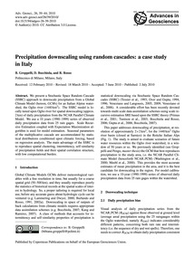 Precipitation Downscaling Using Random C... by Groppelli, B.