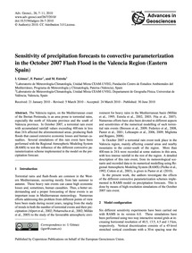 Sensitivity of Precipitation Forecasts t... by Gómez, I.