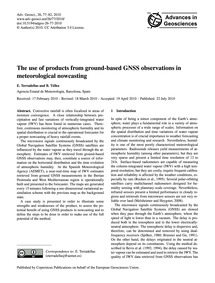 The Use of Products from Ground-based Gn... by Terradellas, E.