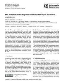 The Morphodynamic Responses of Artificia... by Ojeda, E.