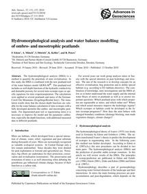 Hydromorphological Analysis and Water Ba... by Edom, F.