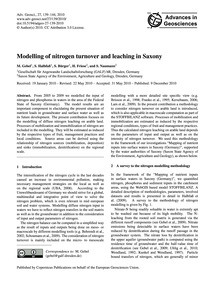 Modelling of Nitrogen Turnover and Leach... by Gebel, M.