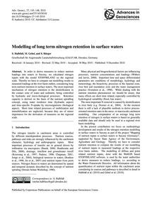 Modelling of Long Term Nitrogen Retentio... by Halbfaß, S.