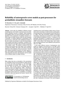 Reliability of Autoregressive Error Mode... by Morawietz, M.