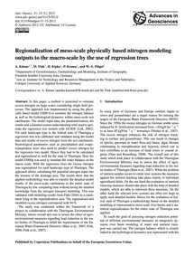 Regionalization of Meso-scale Physically... by Künne, A.