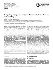 Integrating Heterogeneous Landscape Char... by Julich, S.