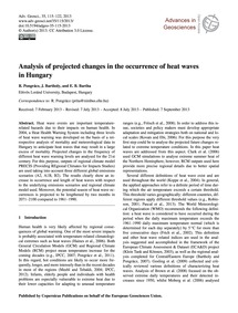 Analysis of Projected Changes in the Occ... by Pongrácz, R.