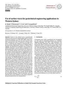 Use of Surface Waves for Geotechnical En... by Tokeshi, K.
