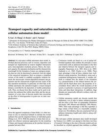Transport Capacity and Saturation Mechan... by Gao, X.