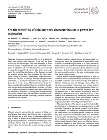 On the Sensitivity of Tidal Network Char... by Jiménez, M.