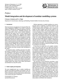 Preface Model Integration and Developmen... by Krause, P.