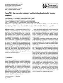 Openmi: the Essential Concepts and Their... by Gregersen, J. B.