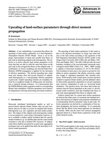 Upscaling of Land-surface Parameters Thr... by Kunstmann, H.