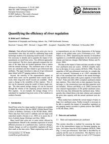 Quantifying the Efficiency of River Regu... by Rödel, R.