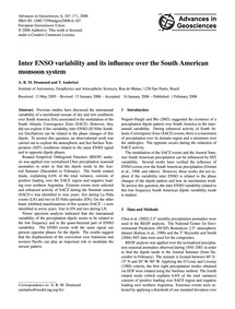 Inter Enso Variability and Its Influence... by Drumond, A. R. M.