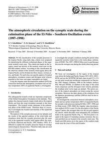 The Atmospheric Circulation on the Synop... by Sokolikhina, E. V.