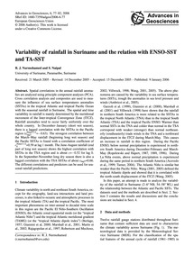 Variability of Rainfall in Suriname and ... by Nurmohamed, R. J.