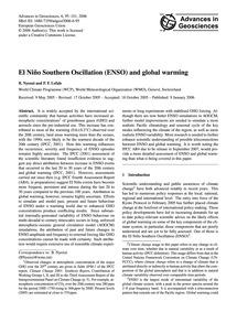 El Niño Southern Oscillation (Enso) and ... by Nyenzi, B.