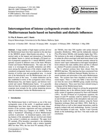 Intercomparison of Intense Cyclogenesis ... by Fita, Ll.