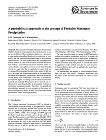 A Probabilistic Approach to the Concept ... by Papalexiou, S. M.